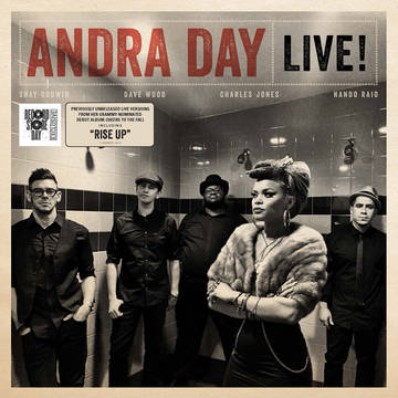 "ANDRA DAY Andra Day Live!  DETAILS Event: RECORD STORE DAY 2016  Release Date: 4/16/2016 Format: 12"" Vinyl Label: Buskin Records/Warner Bros. Reco Quantity: 3000 Release type: RSD Exclusive Release MORE INFO Andra Day brings her ""retro-pop-soul"" to this special Record Store Day EP.   Side A Rise Up Forever Mine Only Love  Side B Gold Rearview Gin & Juice"