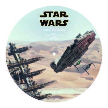 "SOUNDTRACK Star Wars: The Force Awakens ""March of the Resistance b/w Rey's Theme"" (Millennium Falcon)  DETAILS Event: RECORD STORE DAY 2016  Release Date: 4/16/2016 Format: 10"" Picture Disc Label: Walt Disney Records Quantity: 15000 Release type: RSD Exclusive Release MORE INFO Record Store Day awakens the Force with this limited edition picture disc featuring an image of the iconic spacecraft The Millennium Falcon. We're home, Chewie.  ""March of the Resistance""/""Rey's Theme"""