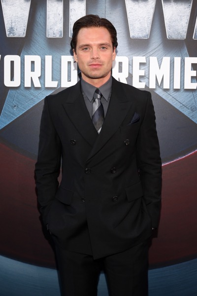 "HOLLYWOOD, CALIFORNIA - APRIL 12:  Actor Sebastian Stan attends The World Premiere of Marvel's ""Captain America: Civil War"" at Dolby Theatre on April 12, 2016 in Los Angeles, California.  (Photo by Jesse Grant/Getty Images for Disney) *** Local Caption *** Sebastian Stan"