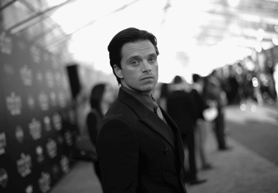 "HOLLYWOOD, CALIFORNIA - APRIL 12:  (EDITORS NOTE: Image has been shot in black and white..Color version not available.) Actor Sebastian Stan attends The World Premiere of Marvel's ""Captain America: Civil War"" at Dolby Theatre on April 12, 2016 in Los Angeles, California.  (Photo by Charley Gallay/Getty Images for Disney) *** Local Caption *** Sebastian Stan"