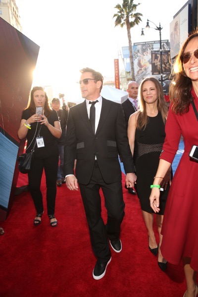 """HOLLYWOOD, CALIFORNIA - APRIL 12:  Actor Robert Downey  Jr. (L) and producer Susan Downey attend The World Premiere of Marvel's """"Captain America: Civil War"""" at Dolby Theatre on April 12, 2016 in Los Angeles, California.  (Photo by Jesse Grant/Getty Images for Disney) *** Local Caption *** Robert Downey Jr.; Susan Downey"""