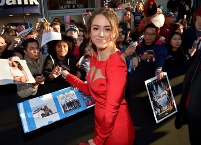 "HOLLYWOOD, CALIFORNIA - APRIL 12:  Actress Chloe Bennet attends The World Premiere of Marvel's ""Captain America: Civil War"" at Dolby Theatre on April 12, 2016 in Los Angeles, California.  (Photo by Charley Gallay/Getty Images for Disney) *** Local Caption *** Chloe Bennet"