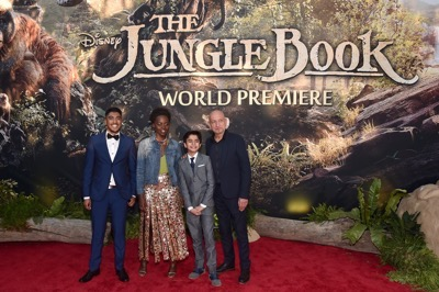 "HOLLYWOOD, CALIFORNIA - APRIL 04:  Actors Lupita Nyong'o and David Oyelowo attend The World Premiere of Disney's ""THE JUNGLE BOOK"" at the El Capitan Theatre on April 4, 2016 in Hollywood, California.  (Photo by Jesse Grant/Getty Images for Disney) *** Local Caption *** David Oyelowo"