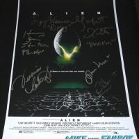 Alien cast signed autograph poster sigourney weaver 1