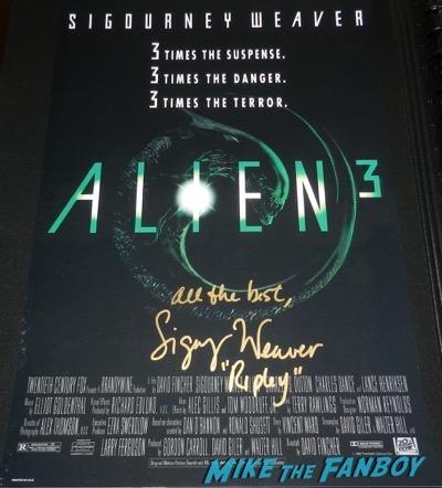 Alien 3 cast signed autograph poster sigourney weaver 2