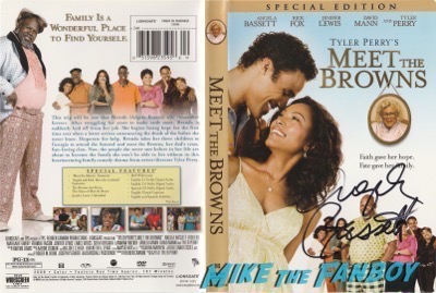 Angela Bassett meet the browns signed autograph dvd cover