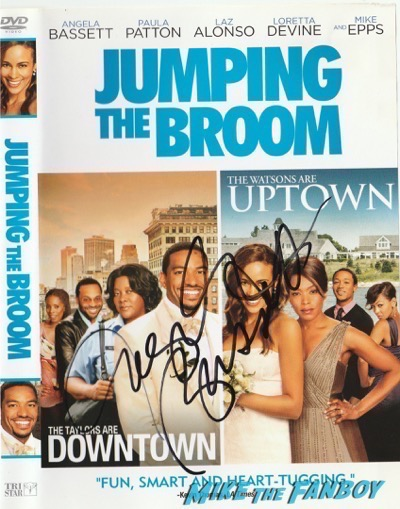 Angela Bassett jumping the broom signed autograph dvd cover