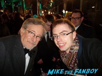 Steven Spielberg fan photo Bafta Awards 2016 signing autographs 1