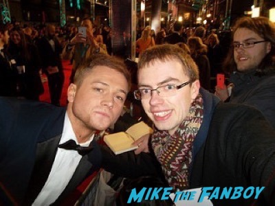Taron Egerton fan photo Bafta Awards 2016 signing autographs 15