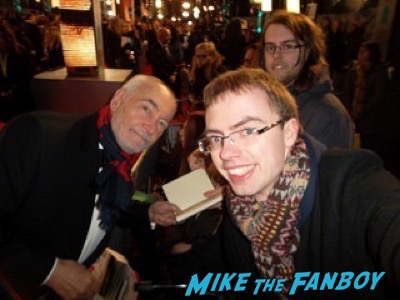 Michael G Wilson fan photo Bafta Awards 2016 signing autographs 22