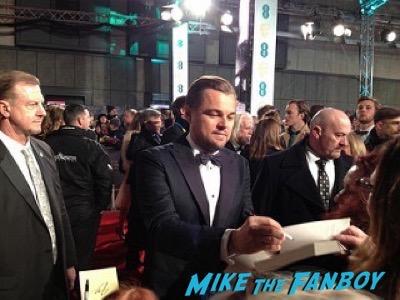 Leonardo DiCaprio signing autographs Bafta Awards 2016 signing autographs 19