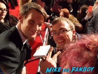 Matt Smith Bafta Awards 2016 signing autographs 9