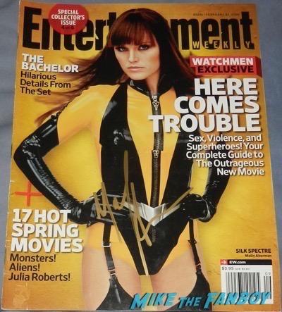 Malin Akerman signed autograph entertainment weekly magazine