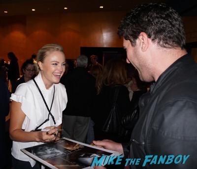 Malin Akerman signing autographs billions q and a