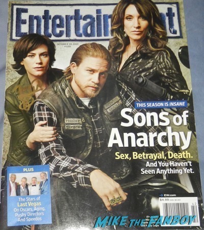 Maggie Siff signed autograph entertainment weekly magazine