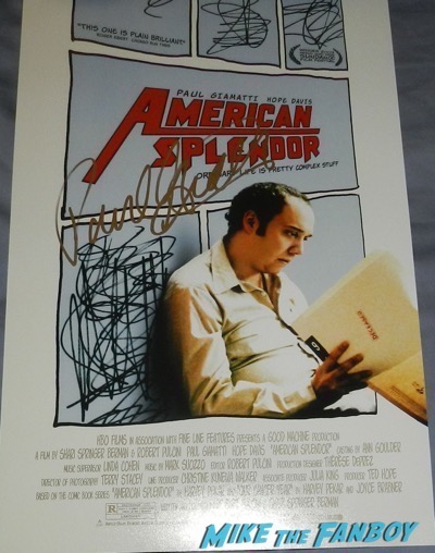Paul Giamatti signed autograph american splendor poster