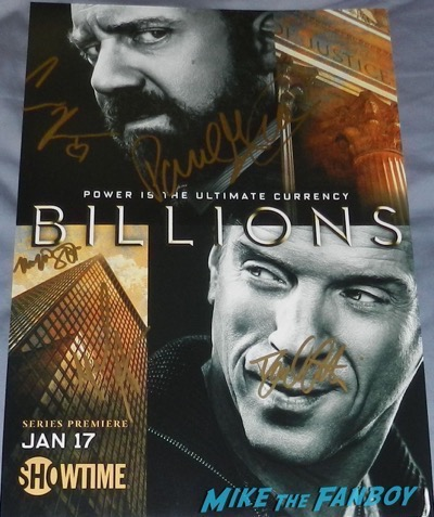 Billions cast signed autograph poster paul giamatti malin akerman maggie siff