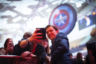 "London UK : Tom Holland attends the European Premiere Of Marvel's ""Captain America: Civil War"" in London on April 26th, 2016. (Credit  : StingMedia for Disney)"