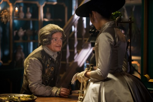 Caitriona Balfe (as Claire Randall Fraser), Dominique Pinon (as Master Raymond)