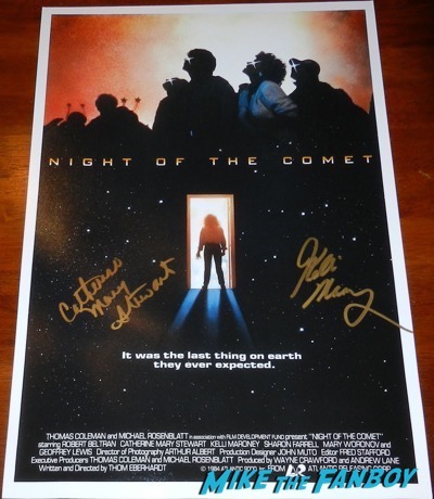 night of the reunion signed autograph poster kelli malroney