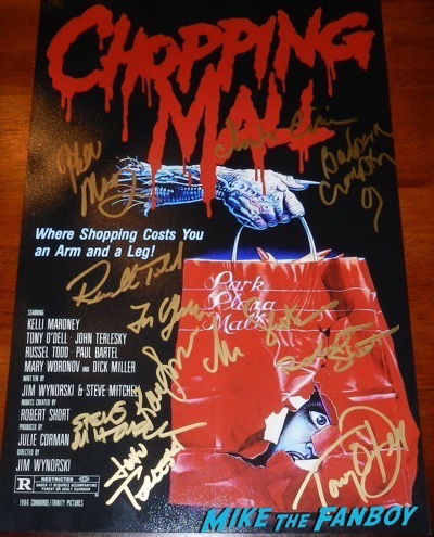 Chopping mall cast signed autograph poster Chopping Mall Cast Reunion and Q and A! Kelli Maroney! Tony O'Dell! Russell Todd! Steve Mitchell! And More!