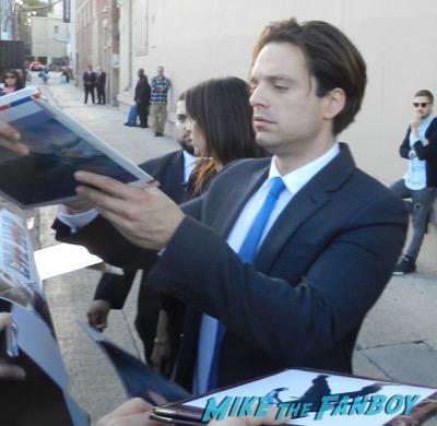 Sebastian Stan signing autographs jimmy kimmel live 2016 16
