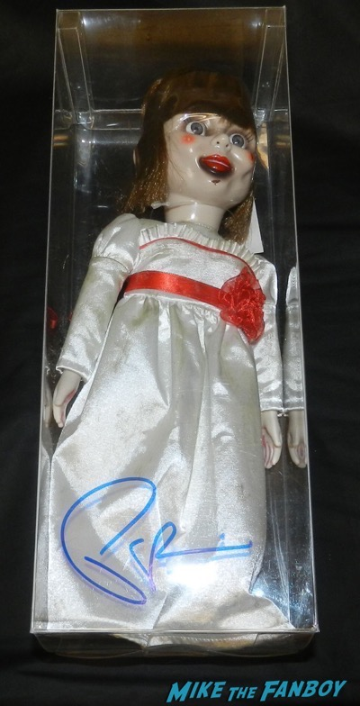 The Conjuring Annabelle promo doll signed autograph patrick wilson