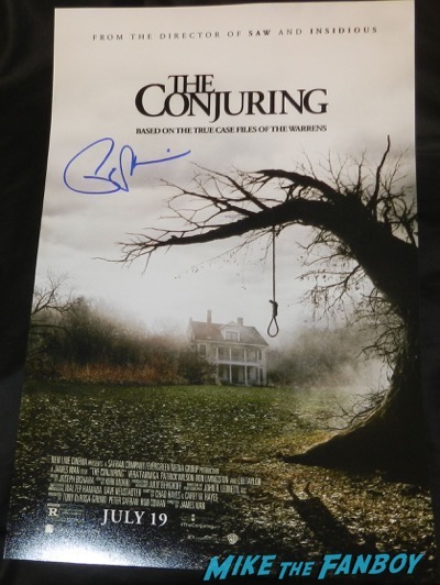 Patrick Wilson signed autograph the conjuring mini poster