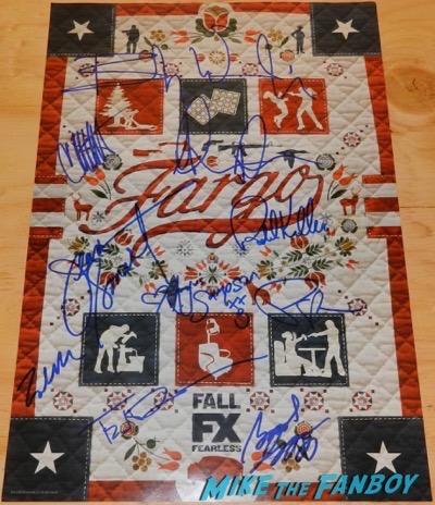 fargo season 2 signed autograph poster ted danson jean smart patrick wilson