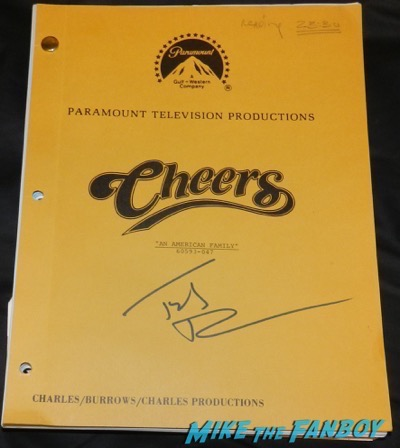 Ted Danson signed autograph cheers shooting script psa