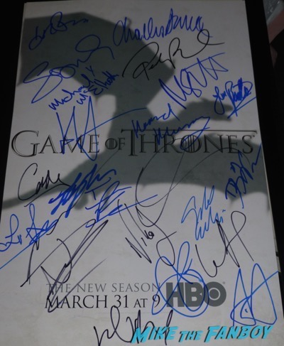 Game of thrones signed autograph SEASON 3 Poster