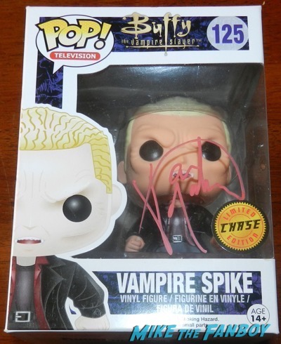 James MArsters signed autograph chase vampire spike pop vinyl