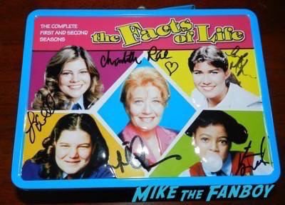 Facts of Life Lunchbox signed autograph kim fields charlotte rae mindy cohn nancy mckeon