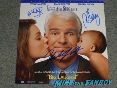 Kimberly Williams signed autograph father of the bride poster steve martin psa