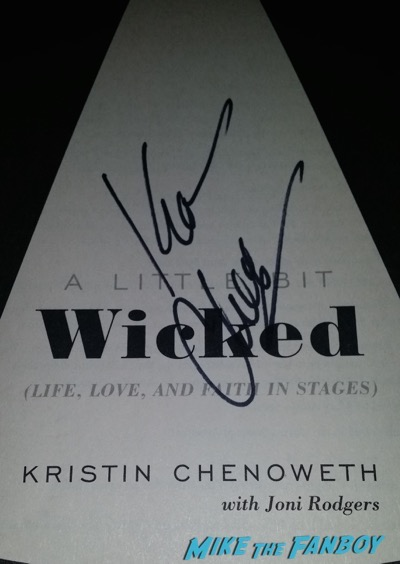 Kristin Chenoweth signed autograph wicked book
