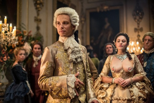 Lionel Lingelser (as King Louis XV), Kimberley Smart (as the King's Mistress)