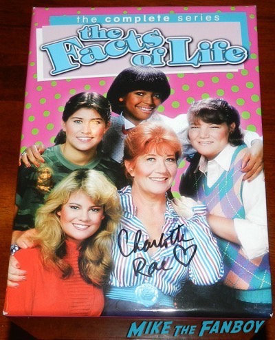 Charlotte Rae signed The Facts of life complete season dvd set