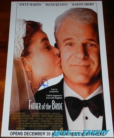 Kimberly williams paisley signed autograph father of the bride poster