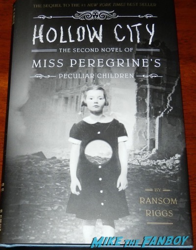 Ransom Riggs signed autograph book