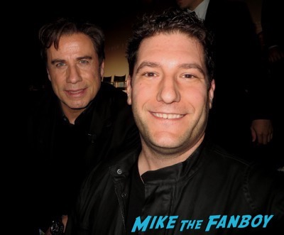 John Travolta fan photo selfie signing autographs