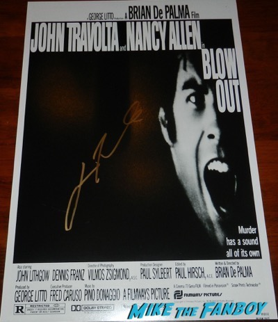john travolta signed autograph blow out poster PSA