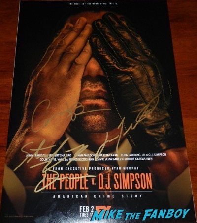 john travolta signed autograph the people v oj simpson poster PSA