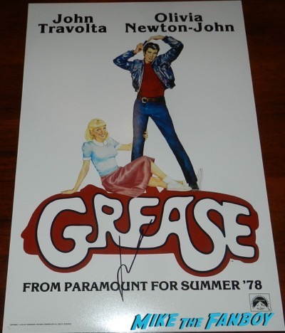 john travolta signed autograph grease poster PSA