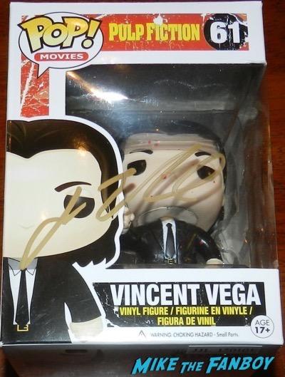 John Travolta signed autograph vincent vega pulp fiction pop funko psa SDCC exclusive