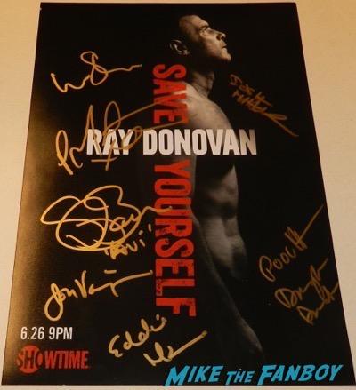 Ray Donovan signed autograph cast poster liev Schreiber jon voight