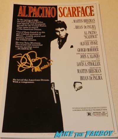 steven bauer signed autograph scarface mini poster