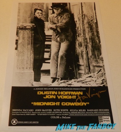 jon voight signed autograph midnight cowboy poster