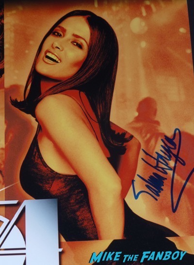 Salma Hayek signed autograph 54 movie poster