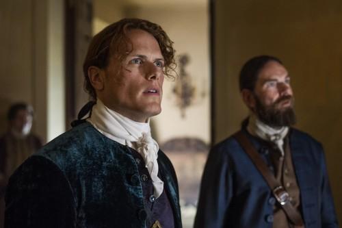 Sam Heughan (as Jamie Fraser), Duncan Lacroix (as Murtagh Fitzgibbons)