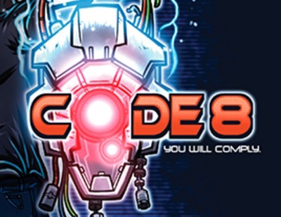 Robbie Amell code 8 press still promo